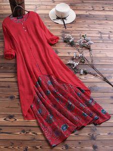 Casual Dresses 4xl 5xl Plus Size Retro Long Dress Big Floral Bobo Maxi Clothing Large Women
