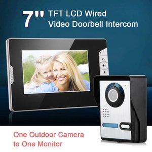 Inch LCD Video Door Phone Doorbell Intercom Kit 1-camera 1-monitor Night Vision With IR-CUT HD 700TVL Camera Phones