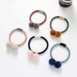 Cute Hairy Balls Elastic Hair Bands For Women Girls Ponytail Holder Headband Sweet Rubber Band Scrunchie Accessories