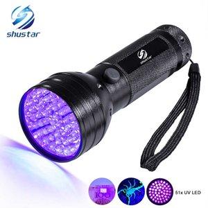 Uv Led Flashlight 51 Leds 395nm Ultra Violet Torch Light Lamp Blacklight Detector for Dog Urine Pet Stains and Bed Bug 210608