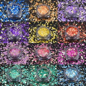 Nail Glitter High Quality Sequins For Nails Art Gel Designs Makeup Holographic Mixed Decorations Uñas