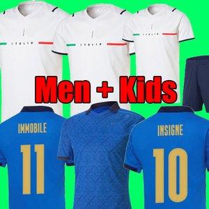 2021 ITALIA LEJOS BARELLA SENSI INSIGNE camiseta de fútbol blanca 21 22 Renaissance CHIELLINI  camisetas de fútbol hombres uniformes de equipo para niños