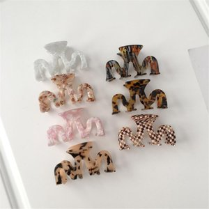 1pc High Quality Geometric Acetate Hair Large Square Crabs Clip Leopard Grain Clamps For Women Accessories Clips