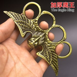 Eagle king finger gears knuckle legal defense weapon metal iron Chinese dragon hand support son ring