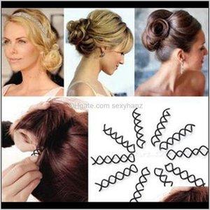 Klipler Barrettes Kadınlar Için 10 adet Spiral Spin Aksesuarları Profesyonel Styling Araçları Tokalar Vidalı Barrette Saç Yay Makinesi Şapkalar RD6 0895Q