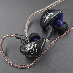 Headphones & Earphones KZ ES3 1BA+1DD Earphone Dynamic Driver Hifi Sport Noise Cancelling Headset