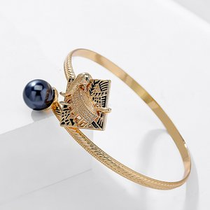 Bracelets of Colorful Fashion Heirloom Gold Plated Engagement Jewelry Bangles Drum Hawaiian Bracelet Wholesale For Women