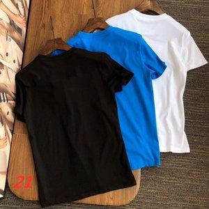 2021 tendência moda camisetas Mensclothes verão fresco e respirável estilista senhora senhora senhora mangas curtas-camisa de luxo por atacado