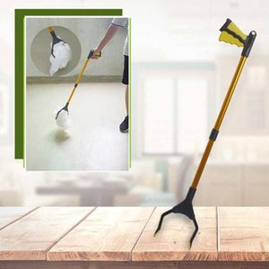 Dreamburgh Basura plegable Abrazaderas Cogn la herramienta Herramienta curvada Manija de diseño Plegable Clip sanitario Portátil Casa de la calle Grabber Brooms Dustpan