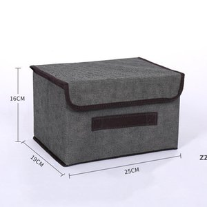 Storage Box with Lid Non-woven Foldable Cloth Chest Bins Cubes Organizer Baby Toy HWD10657
