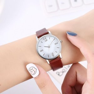 Creative with Numbes Dial Online Celebrity Style Men and Women-Belt Quartz Chell Wristwatches