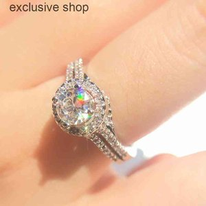 Moissanite Ring 925 Silver Excellent Flower Cut 2ct Diamond VVS Six pawls Charming Engagement Gift Gemstone Rings for Women