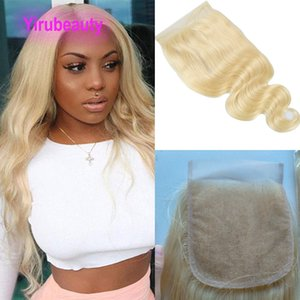 Brazilian 5X5 Lace Closure Body Wave Blonde 613#100% Human Hair Prodcuts Remy Free Middle Three Part