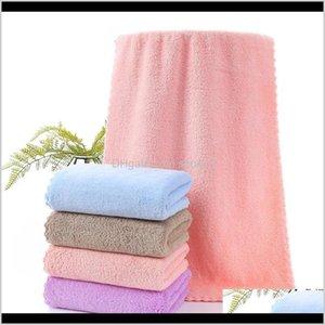 Hand Bath El Supplies Home & Garden Drop Delivery 2021 Coral Fleece 35 * 75 Microfiber Plain Face Towel Super Absorbent Pbcwg