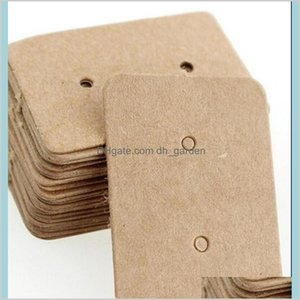 Stand Packaging Drop Delivery 2021 Paper Ear Studs Label Jewelry Display Card Kraft Rec Earring Tag Cards2535Mm Tlcvh
