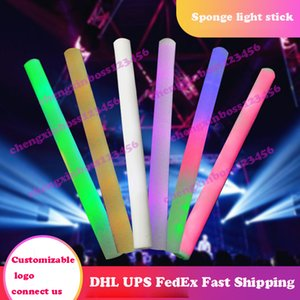 Colorful Sponge Glow Stick Toy Bar Event Party Flash Luminous Sticks Concert Cheer Led rod Kids Christmas Carnival Toys