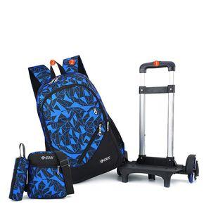 학교 가방 십대 배낭 2/6 바퀴 계단 아이들 소녀 소녀 트롤리 Schoolbag 수하물 도서 가방
