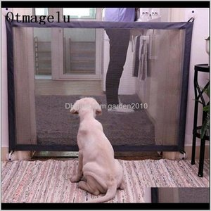 Houses & Kennels Fences Gate Folding Safety Pet Network Playpen For Dog Cat Baby Isolated Home Door Fence Cage Accessories Cxxcj Zhy8T