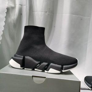 [Kutusu ile] 2021 Tasarımcı Çorap Spor Ayakkabı Erkek Hız 1.0 Eğitmenler Lüks Kadın Erkek Koşucular Eğitmen Sneakers Çorap 2 Çizmeler Platformu Boyutu 36-45 02