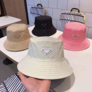 Moda Tasarımcısı Kova Şapka Adam Kadın Mektuplar için Şerit Dome Kap Kaplan Casquette Şapkalar Siyah Beyaz Kapaklar