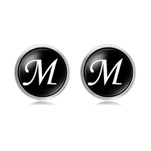 Mens Fashion A-Z Single Alphabet Cufflinks Silver Color Letter Cuff Button for Male Gentleman Shirt Wedding Cuff Links Gifts 226 W2