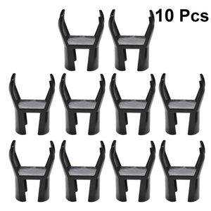 Golf Training Aids 10 Pcs Pick Gadge Portable Supplies Picker Retriever Putter Grabber Claw Tool Accessory (Black)