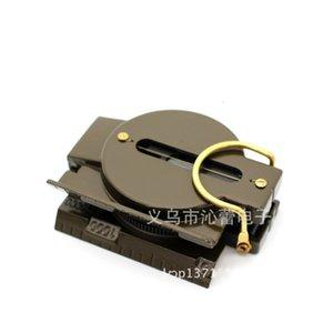 Round Outdoor Tool Rientation Ferramenta Plásticos Shell Golds Banhado Compasses Numeral Compass Portables Multi Função Exército Verde 4 9QL L2