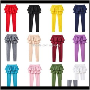 & Girls Fake Two Pieces Skirt Pants Baby Leggings Boutique Kids Tights Clothes Children Trousers Candy 13 Colors J7R9Z B0Qf5