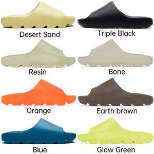 2021 слайды костяные смолы пустыни песок дизайнерские тапочки летняя мода земля коричневые плоские слайд мужчины женщин пляж привязанные сандалии размер EUR36-45