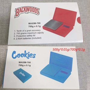 Cookies Backwoods Digital Pocket Scales Red Blue 500g*0.01g 700g*0.1g Jewelry Gold Tobacco Stash Weight Vapes Measurement Device Flip Style