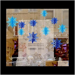Festive Party Supplies Home & Garden Drop Delivery 2021 The Latest Christmas Decorations 1 Pack = 6 Pieces, 3D String Pendants, Shopping Mall