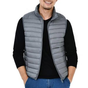 Men's Vests Lightweight Down Vest With Stand-up Collar Casual Top For Autumn Winter A66