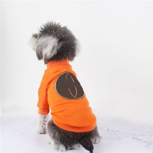 Casual Köpek Kazak Klasik Desen Deri Baskılı Köpekler Mont Pet Pamuk Giysileri Sonbahar Kış Tişörtü Corgi Bulldog
