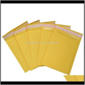 Gift Wrap 50 Pc 22 X 25Cm Kraft Paper Filled Envelope With Bubble Mail Bag Zw0Sf Yhh9Y