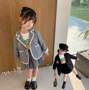 Kids Clothing Sets Girls Suits Children Outfits Cotton Spring Autumn Long Sleeve Coat Skirts 2Pcs Baby Clothes 2-6Y B4753