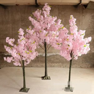 1.5M 5Ft Height party White Cherry Blossom Tree Road Cited Simulation Cherry Flower Tree For Wedding Party Centerpieces Decor white pink
