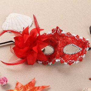 Women Costume Accessories Mask Lily Flower Design Women Princess Fashion Sexy Mask Mysterious Halloween Costume Cosplay Masks Free Size