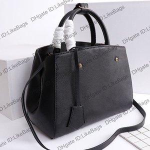 2020 Hot vendido luxurys designers bolsas bolsas Montigne bb mulheres bolsas de compras de gravação letra genuína top grãos de couro ombro crossbody saco