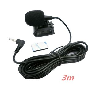 Microphones Car Audio Microphone 3.5mm Clip Jack Plug Mic Stereo Mini Wired External For Auto DVD Radio 3m Long Professionals