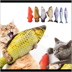 Pet Soft Plush 3D Shape Cat Bite Resistant Interactive Gift Catnip Toys Stuffed Pillow Doll Simulation Fish Playing Toy Kpyd9 7Bsja