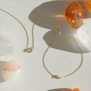 LinkqingsHe 925 Placcato argento 10K oro Ahnan Twilight Moon Bracelet