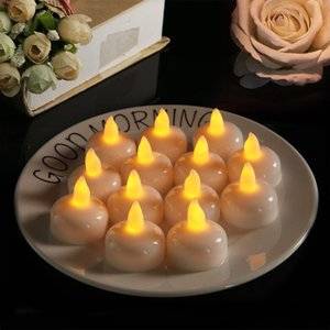Flameless Waterproof Candle Lamp Float On Water Led Plastic Floating Tea Lights Battery Operated Party Decor