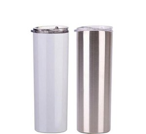 Tumblers 20 Oz Sublimation Blank Skinny Tumbler Diy Tapered Stainless Steel Cup Double Wall Car Cups Coffee Beer Mug Unng7 S4Llm
