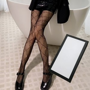 2021 Womens Luxus Socken Reife Marke Dress Up Strümpfe Mode Brief Muster Ins Strumpfy Sexy Damen Leggings Hochwertige Strumpfhosen