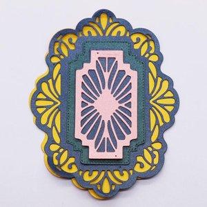 Painting Supplies Geometric Pattern Metal Cutting Dies DIY Scrapbooking Paper Cards Decorative Crafts Embossing Making Template Stenci