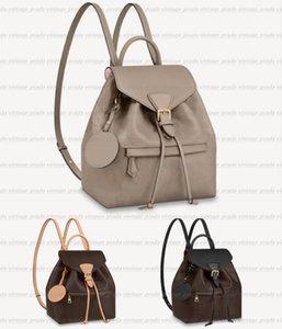 High Quality designer luxury Backpacks MONTSOURIS Handbag Shouler Bag Shoulder Bags Black Genuine Leather Letter Embossing SPERONE Zipper Travelling Backpack