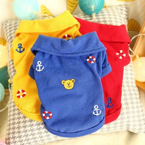 The dog clothes Dog cat pet thin spring clothing polo shirt teddy bear pome puppy summer vest