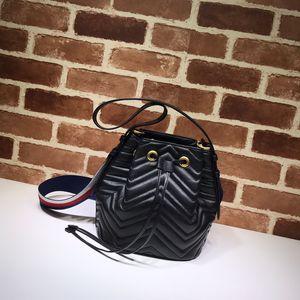 2021 La serie Secchio Borsa 476674 Copertina Plain Genuine Pelle Versatile Fashion Fashion Slot Slot Pocket Task Atmosfera Atmosfera Graziosa