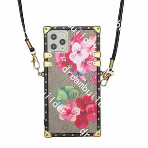 Fashion Phone cases for iPhone 13 12 Pro Max case 12mini 11 XR XS X XSMAX PU leather shell Samsung S20 S20P S20U NOTE 20 20U with Lanyard
