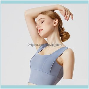 Gym Clothing Exercise Wear Athletic Outdoor Apparel & Outdoorsquick-Drying Running Yoga Vest Bra Fitness Sports Underwear Women1 Drop Delive